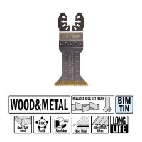 """Погружное пильное полотно """"extra-long"""" 45 мм для древесины и металла СМТOMM16-X1"""