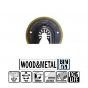 """Сегментное пильное полотно """"extra-long"""" 87 мм для древесины и металла СМТOMM18-X1"""