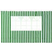 Стенка зеленая с окном для садового тента Green Glade 4110