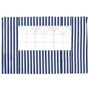 Стенка синяя с окном для садового тента Green Glade 4120