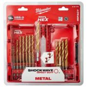Набор сверл по металлу Milwaukee Shockwave HSS-G Tin Red Hex (19 шт)