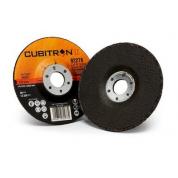 Зачистной круг 3M™ Cubitron™ II  Cut & Grind Т27, 125 мм х 4,2 мм х 22,23 мм, A 36 S BF