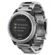 Умные часы серебряные с титановым браслетом Garmin Fenix 3 HR