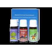 Мини-набор ароматических добавок №1 (Успокоительный, Апельсин, Эвкалипт)