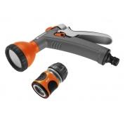 Комплект Gardena: Пистолет-распылитель для полива + Коннектор с автостопом 1/2