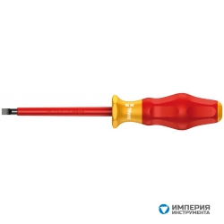 Отвертка диэлектрическая шлицевая WERA Kraftform Comfort 1160 i VDE, 1.0x5.5x200 мм, 031585