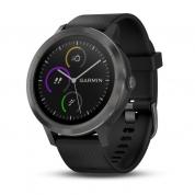 Умные часы черные с черным ремешком Garmin Vivoactive 3