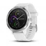 Умные часы серебристые с белым ремешком Garmin Vivoactive 3