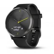 Умные часы черные с черным ремешком Garmin Vivomove HR