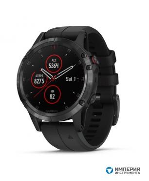 Умные часы черные с черным ремешком Fenix 5 Plus Sapphire
