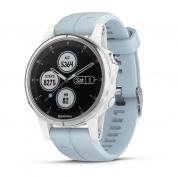 Умные часы белые с голубым ремешком Garmin Fenix 5s Plus