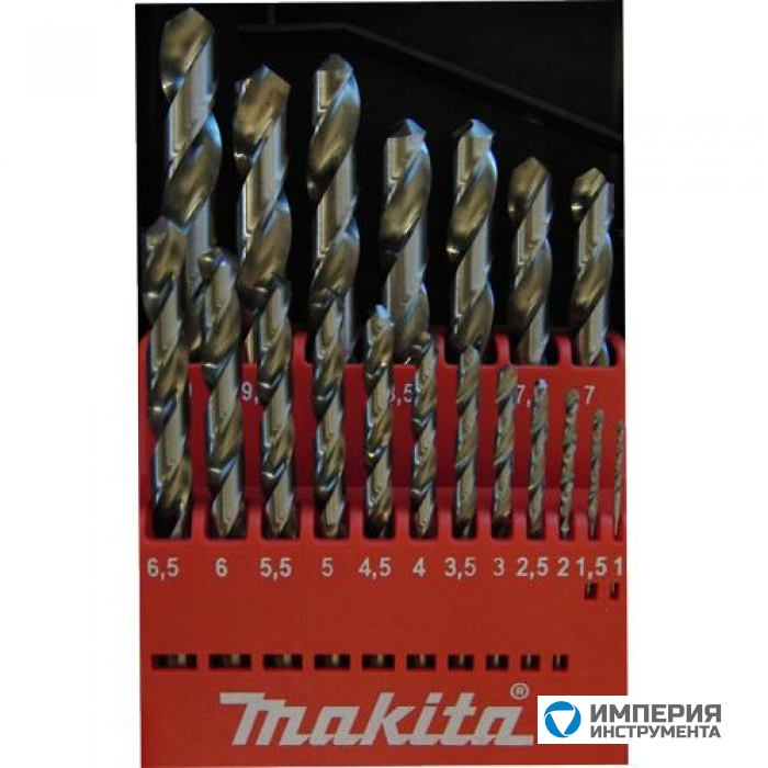 Набор сверл по металлу Makita D-29941 1-10 мм