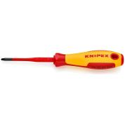 Тонкая отвертка для винтов с шлицем PlusMinus PZ KNIPEX KN-982501SLS