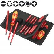 Набор диэлектрический WERA Kraftform Kompakt 60i+iS/62i/65i/67i/17 059030