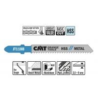 Пилки лобзиковые (металл/чистовой рез) CMT JT118B-5