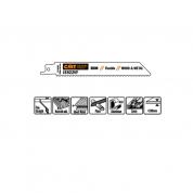 Пилки сабельные 5 штук  для  дерева и металла(BIM) 150x1,8-2,6x10-14TPI CMT JS922VF-5