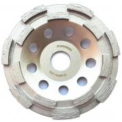 Алмазная двухрядная шлифовальная чашка Messer BG/M SPEED 125D-5T-7.2W-18S-22.2
