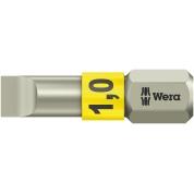 Бита WERA 3800/1 TS для винтов со шлицем 1/25 мм, нержавеющая сталь 071001