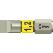 Бита WERA 3800/1 TS для винтов со шлицем 1,2/25 мм, нержавеющая сталь 071002
