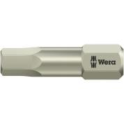 """Бита WERA 3840/1 TS шестигранник 3/32""""/25 мм, нержавеющая сталь 071060"""