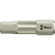 """Бита WERA 3840/1 TS шестигранник 5/32""""/25 мм, нержавеющая сталь 071064"""