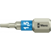Бита WERA 3840/1 TS шестигранник 1,5/25 мм, нержавеющая сталь 071070
