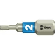 Бита WERA 3840/1 TS шестигранник 2/25 мм, нержавеющая сталь 071071