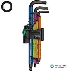 Набор Г-образных ключей WERA 950 SPKL/9 SM N Multicolour BlackLaser 073593