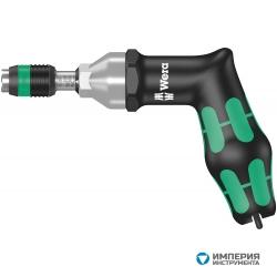Динамометрическая отвертка WERA 7400, регулируемая, 3,0-6,0 Nm, с быстросменным патроном Rapidaptor, пистолетная ручка 074702