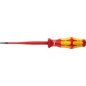 Отвертка диэлектрическая шлицевая WERA Kraftform Plus уменьшенный Ø стержня, 160 iS VDE, 0.8x4.0x100 мм, 006441