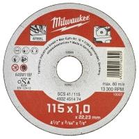 Отрезной диск по металлу Milwaukee SCS 41 / 115 x 1 x 22 мм (1шт)
