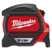 Рулетка метрическая/футовая магнитная Milwaukee Premium 5 м/ 16 фт x 27 мм (1шт)
