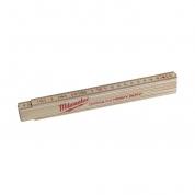 Деревянный складной метр тонкий Milwaukee 2 м (1шт)