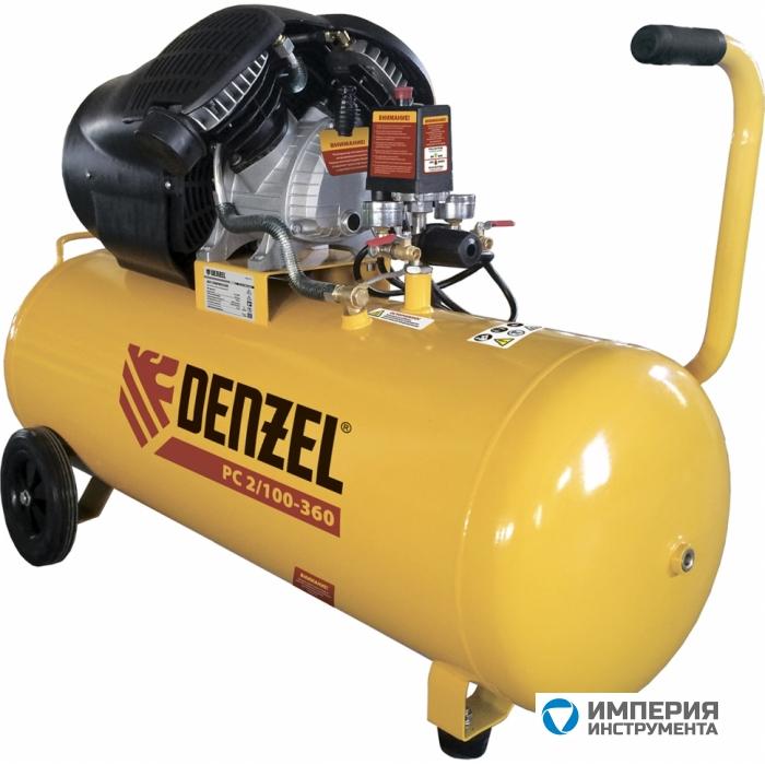 Denzel Компрессор воздушный PC 2/100-360 (2.3 кВт, 360 л/мин, 100 л, 10 бар)