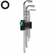 Набор Г-образных ключей, метрических, хромированных WERA 950 PKL/9 SM N 022087