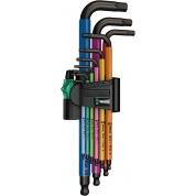 Набор Г-образных ключей, метрических WERA 950 SPKL/9 SM N Multicolour BlackLaser 022089