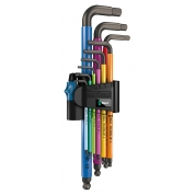 Набор Г-образных ключей, метрических WERA 950 SPKL/9 SM HF Multicolour BlackLaser 022210