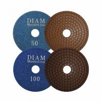 Алмазный гибкий шлифовальный круг Diam MasterLine Wet(мокрая) 100*2,5 №1500