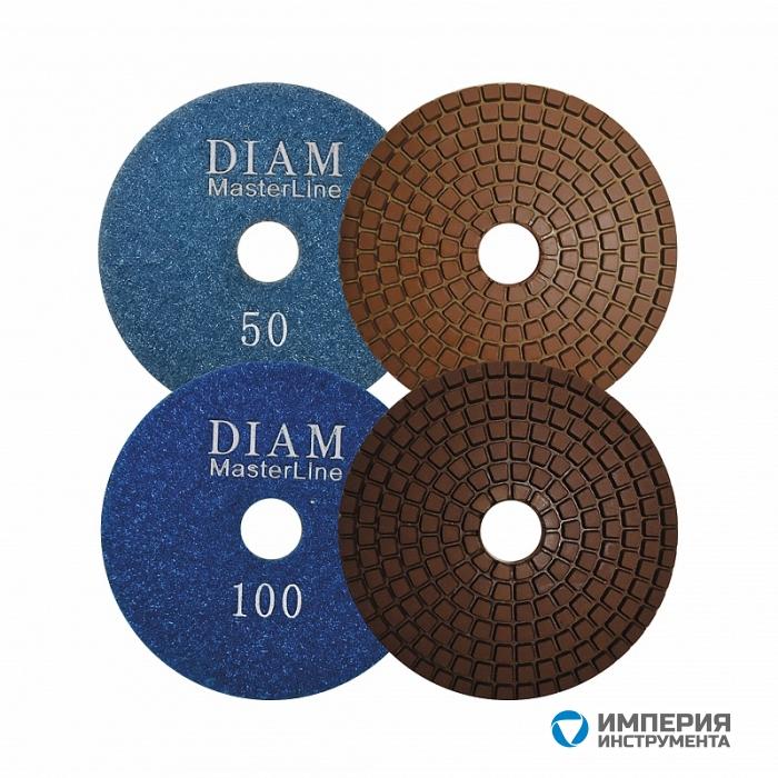 Алмазный гибкий шлифовальный круг Diam MasterLine Wet(мокрая) 100*2,5 №800