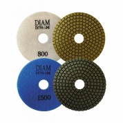DIAM (ДИАМ) Алмазный гибкий шлифовальный круг ExtraLine Wet(мокрая) 100*3,0 BUFF