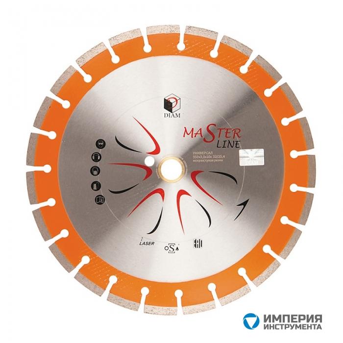Сегментный алмазный круг DIAM УНИВЕРСАЛ Master Line 400*3,0*10*32/25,4