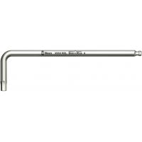 Ключ Г-образный WERA 3950 PKL, нержавеющая сталь, метрический, 3x123 мм 022703