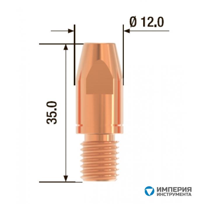 Контактный наконечник FUBAG M10х35 мм CuCrZr D=1.6 мм (25 шт.)