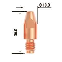 Контактный наконечник FUBAG M8х30 мм ECU D=0.8 мм (25 шт.)