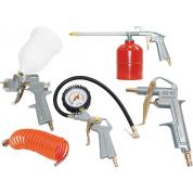 Набор пневмоинструмента FUBAG 5 предметов (краскораспылитель с верхним бачком)