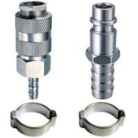 Набор FUBAG: Разъемное соединение рапид (муфта), елочка 6мм + разъемное соединение рапид (штуцер), елочка 6 мм + 2 обжимных кольца 6x11мм, блистер