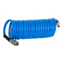 FUBAG Шланг спиральный с фитингами рапид, полиуретан, 15бар, 6x10мм, 5м