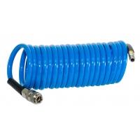 FUBAG Шланг спиральный с фитингами рапид, полиуретан, 15бар, 8x12мм, 5м