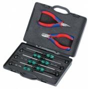 Набор плоскогубцев для работ с электронными компонентами KNIPEX KN-002018