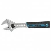 Ключ разводной GROSS, 200 мм, CrV, двухкомпонентная ручка